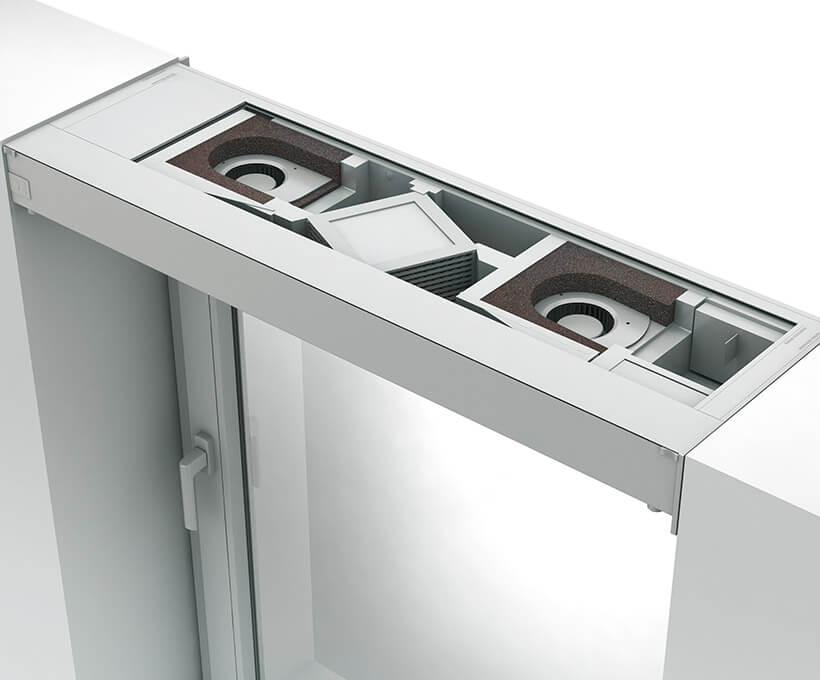 Системы комфорта Окно вентиляционное Aeromat Vt С рекуперацией тепла Tab Преимущества сборки 02